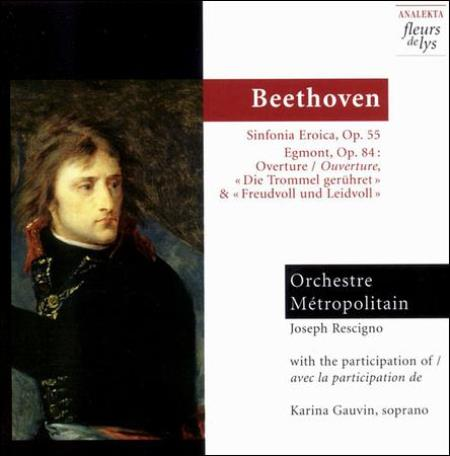 Beethoven: Symphony No. 3; Egmont Overture CD Cover Art