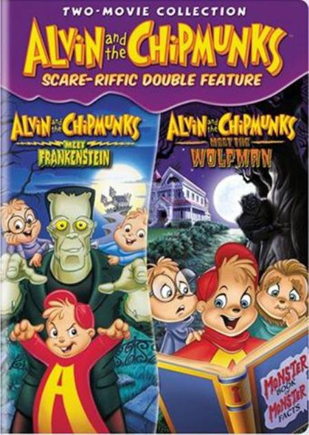 Alvin and the Chipmunks Scare-riffic Double Feature DVD Boxset Cover Art