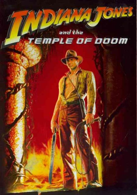 Indiana Jones and the Temple of Doom DVD Cover Art