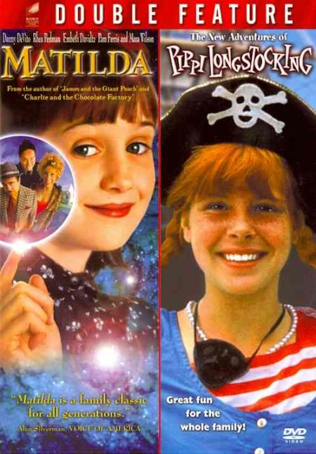 Matilda/The New Adventures of Pippi Longstocking DVD Boxset Cover Art