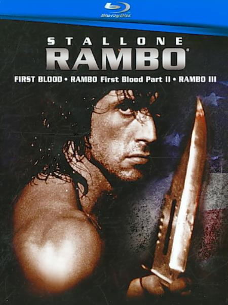 Rambo Trilogy Blu-ray Boxset Cover Art