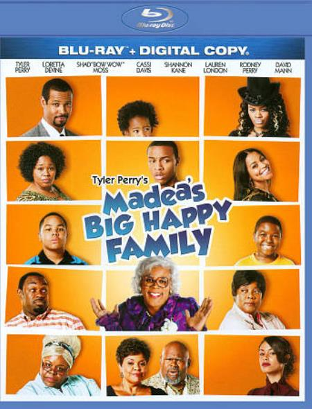 Tyler Perry's Madea's Big Happy Family Blu-ray Cover Art