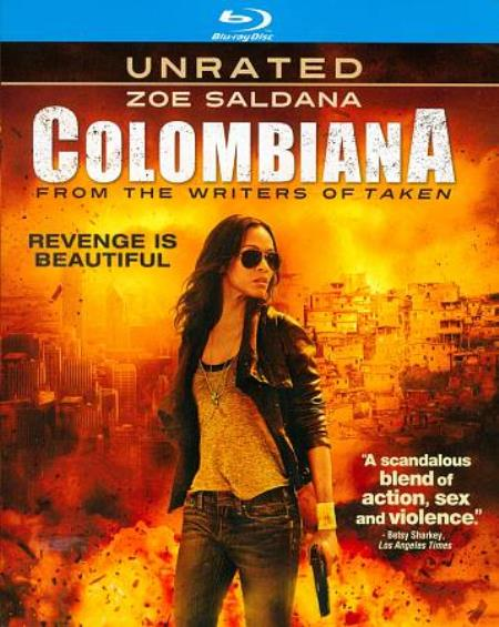 Colombiana Blu-ray Cover Art