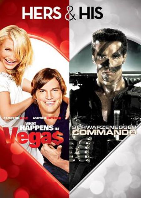 Hers & His: What Happens in Vegas/Commando DVD Cover Art