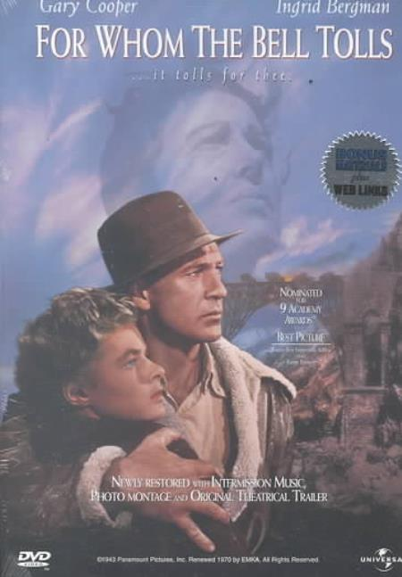 For Whom the Bell Tolls DVD Cover Art