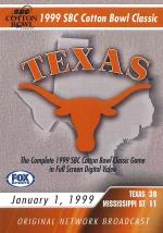 1999 Cotton Bowl - Texas DVD Cover Art