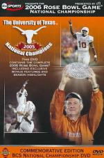 2006 Rose Bowl - Texas Vs. USC DVD Cover Art