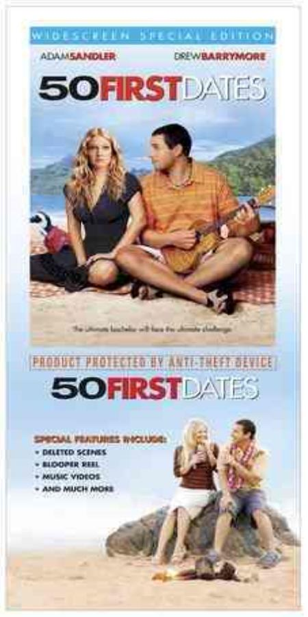 50 First Dates DVD Cover Art