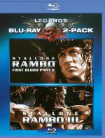 Rambo: First Blood II/Rambo: First Blood III Blu-ray Boxset Cover Art