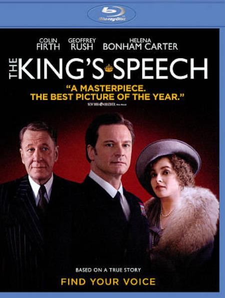 The King's Speech Blu-ray Cover Art
