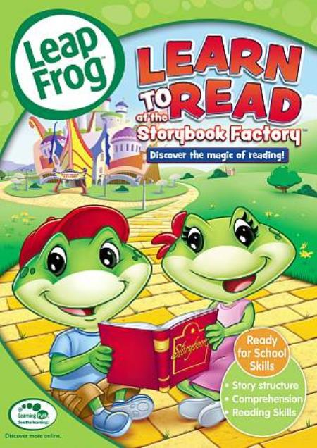 LeapFrog: Learn to Read at the Storybook Factory DVD Cover Art