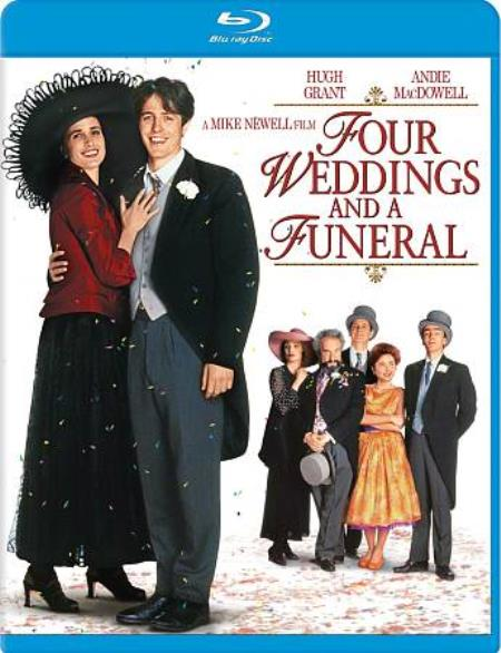 Four Weddings and a Funeral Blu-ray Cover Art