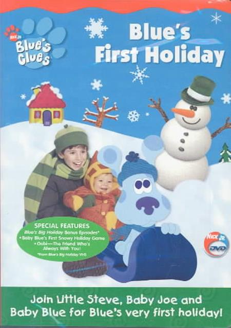 Blue's Clues - Blue's First Holiday DVD Cover Art
